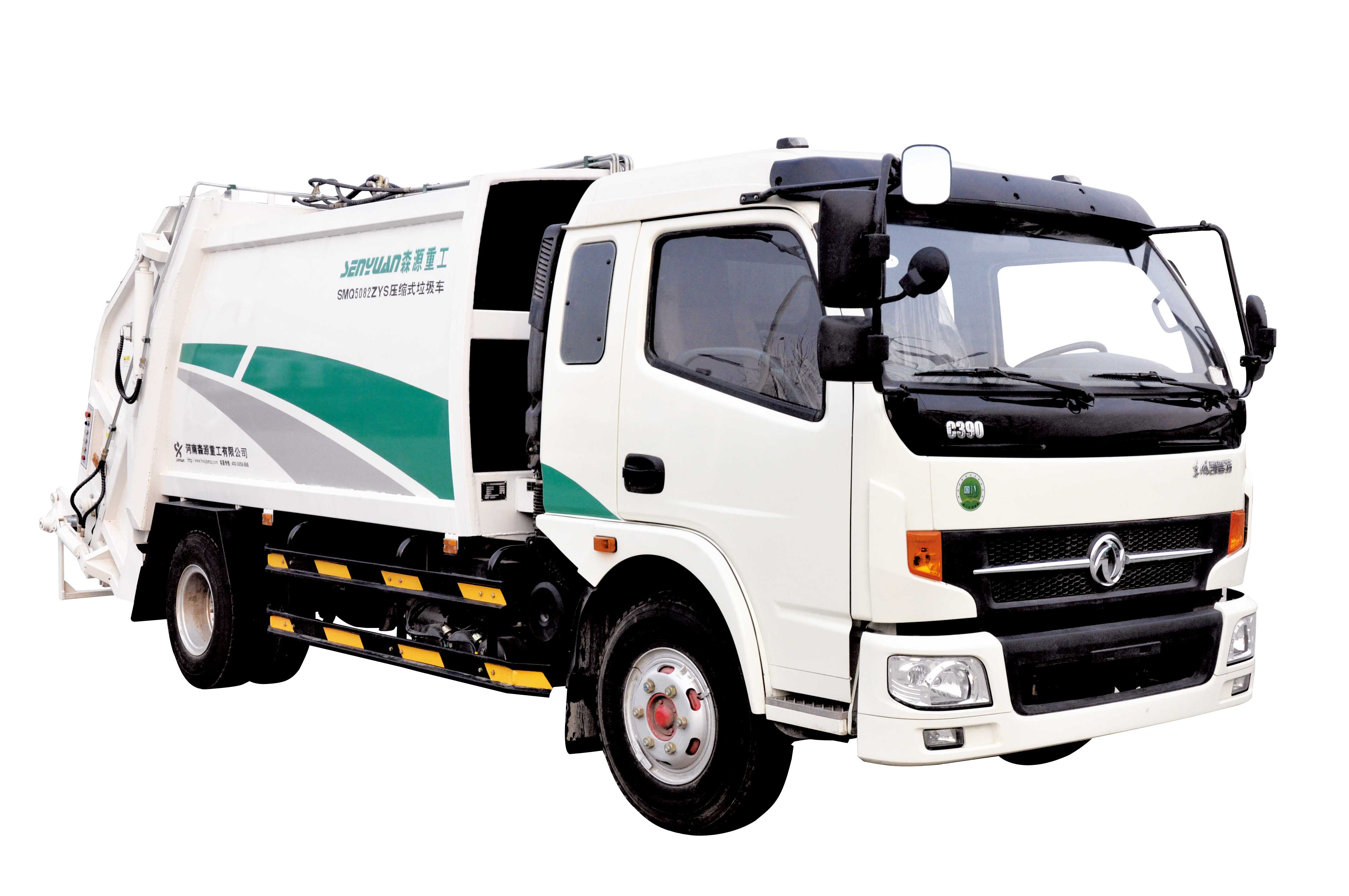 SHENGYUAN Compressed Garbage Truck with Dongfeng Chassis