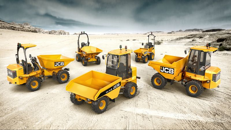 JCB 1T-2 Site Dumpers