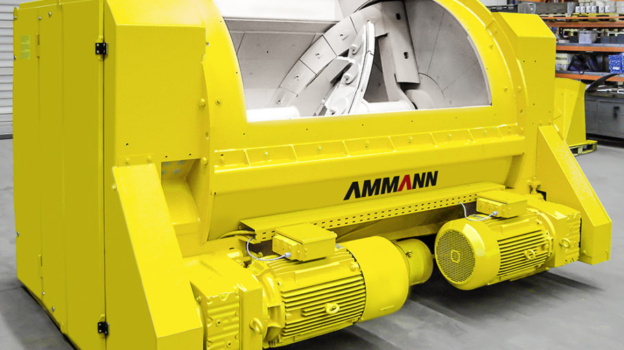 Ammann SINGLE-SHAFT COMPULSORY MIXER CEM S ELBACONCRETE MIXERS