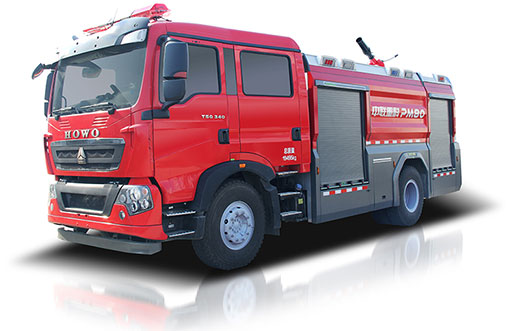 Zoomlion PM80 Foamwater tank fire fighting vehicle