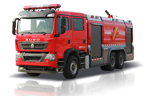 Zoomlion PM120 Foamwater tank fire fighting vehicle