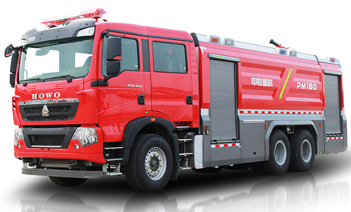Zoomlion 5340PM180 Foamwater tank fire fighting vehicle