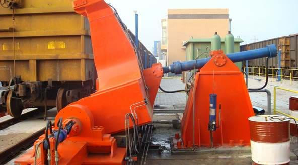 Metso Railcar positioner - rack and pinion