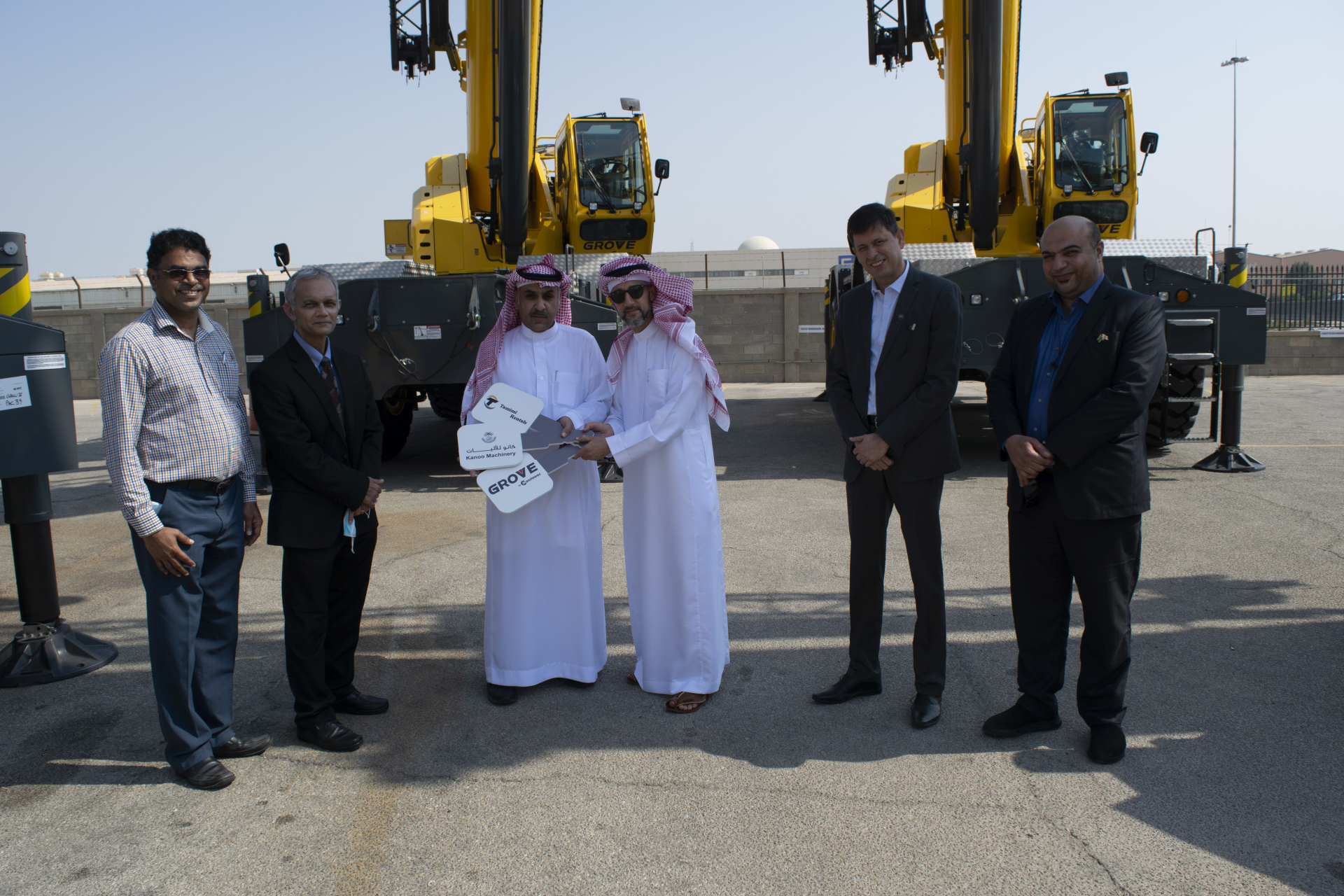 Fahad S Al Tamimi & Partners Co (Tamimi Rentals) invests in Grove rough-terrain cranes to diversify its business