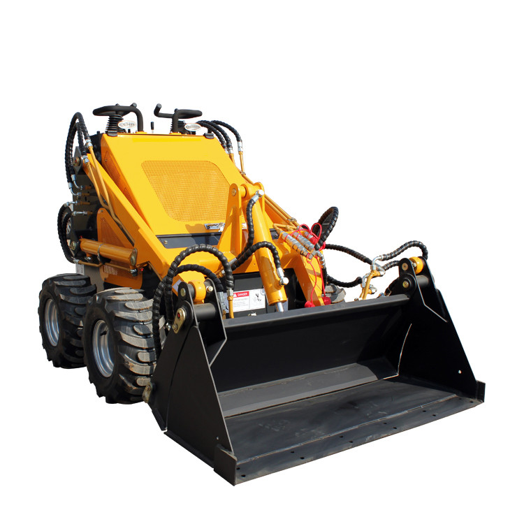 YIXUN Tyre type electric mini skid steer loader walking steering bulldozer 380